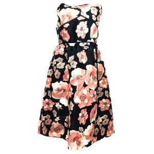 Kay Unger Ladies Strapless Floral Dress Size 12